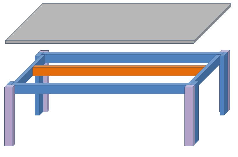 自作ロータイプ水槽の3D図