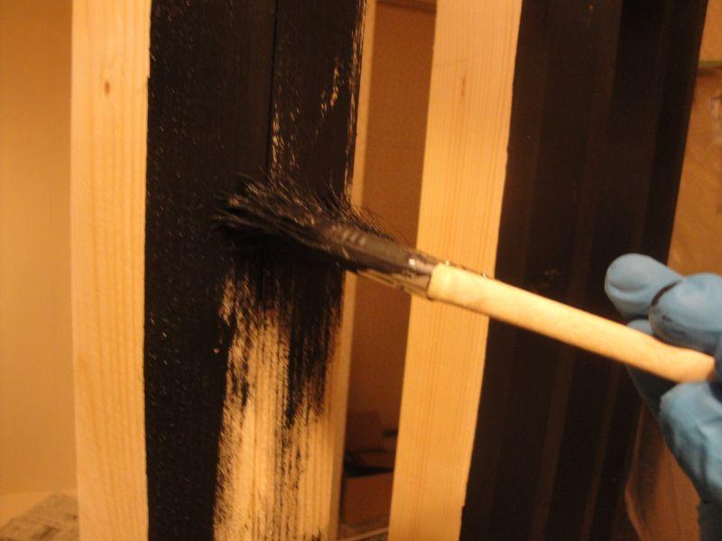 水槽台に塗装する