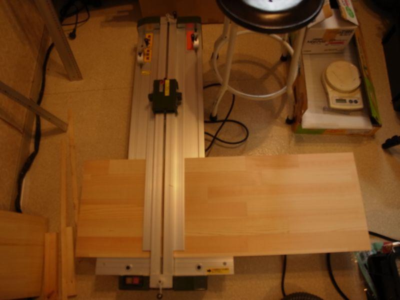 スライドソウで木材カット