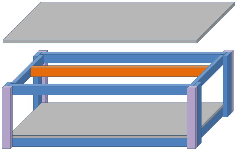 自作水槽ロータイプ2段