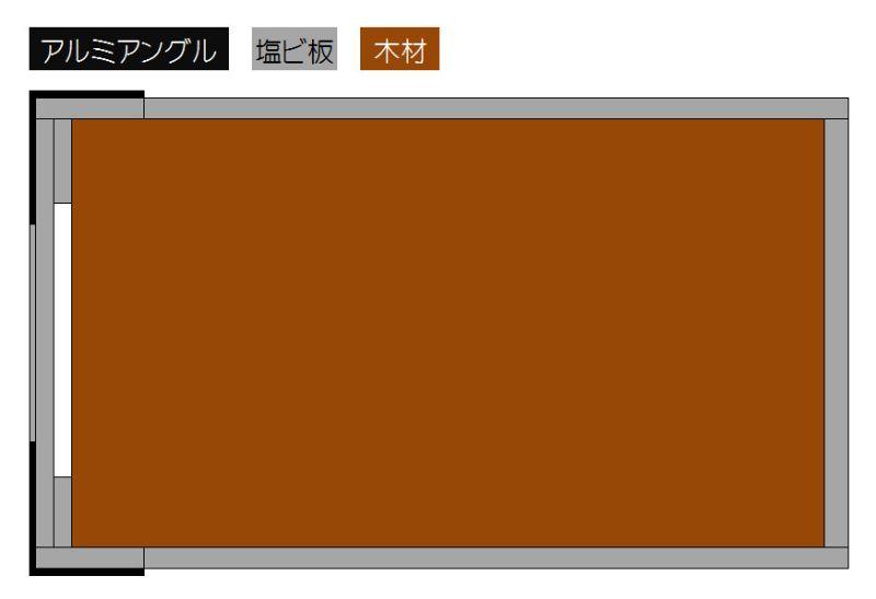 自作電源タップ筐体の図面