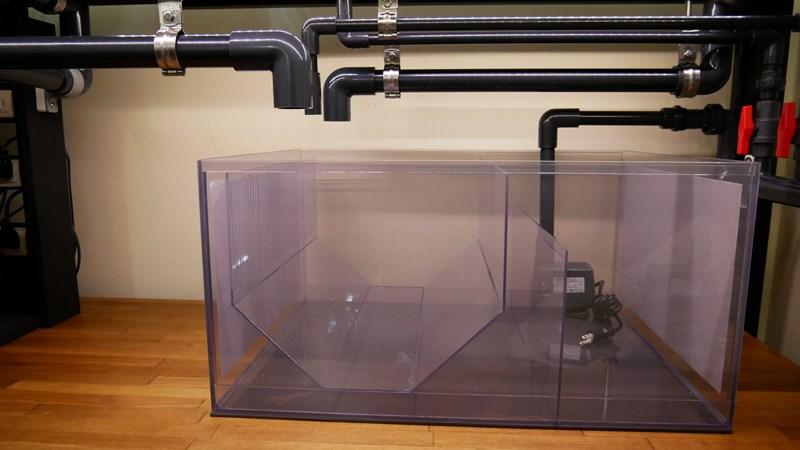 完成した流動ろ過の自作ろ過槽