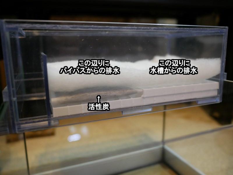 シンプルなウールボックスに活性炭を設置する写真