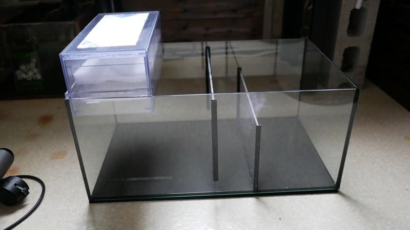 自作ガラス水槽サンプと自作ウールボックス