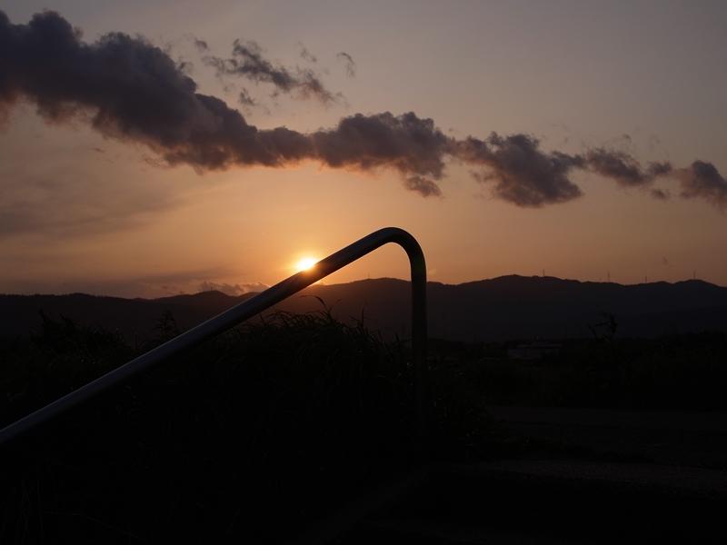 河原の夕焼け