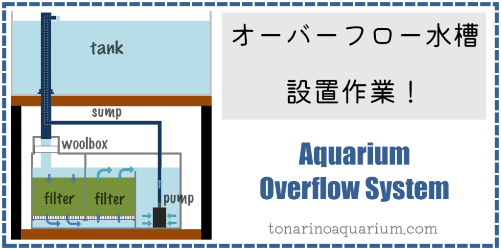 オーバーフロー水槽の設置作業